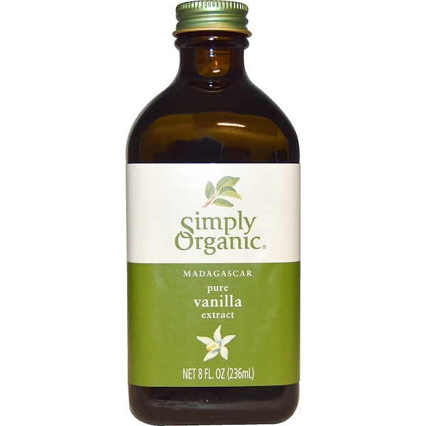 Simply Organic, Pure Vanilla Extract, Madagascar, 8 fl oz (236 ml)