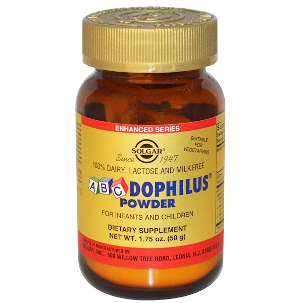 Solgar, ABC Dophilus Powder for Infants & Children, 1.75 oz (50 g) (Discontinued Item)