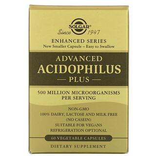 Solgar, Advanced Acidophilus Plus, 60 Vegetable Capsules