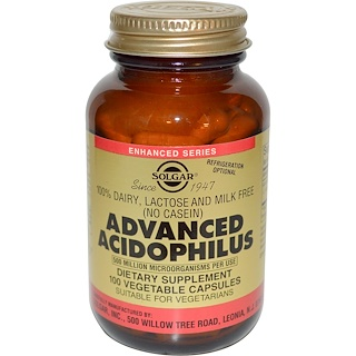 Solgar, Advanced Acidophilus, 100 Vegetable Capsules