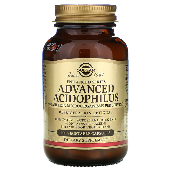 Advanced Acidophilus, 100 Vegetable Capsules