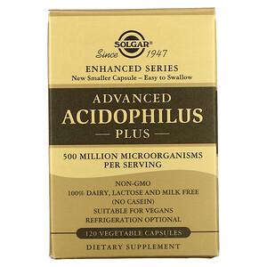 Solgar, Advanced Acidophilus Plus, 120 Vegetable Capsules