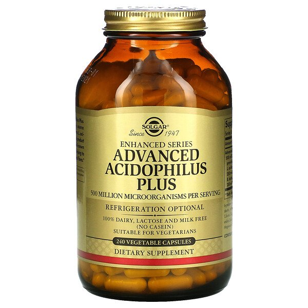 Solgar, Advanced Acidophilus Plus, 240 Vegetable Capsules (Discontinued Item)