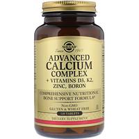 Улучшенный кальциевый комплекс с витаминами D3, К2, цинком и бором, 120таблеток - фото