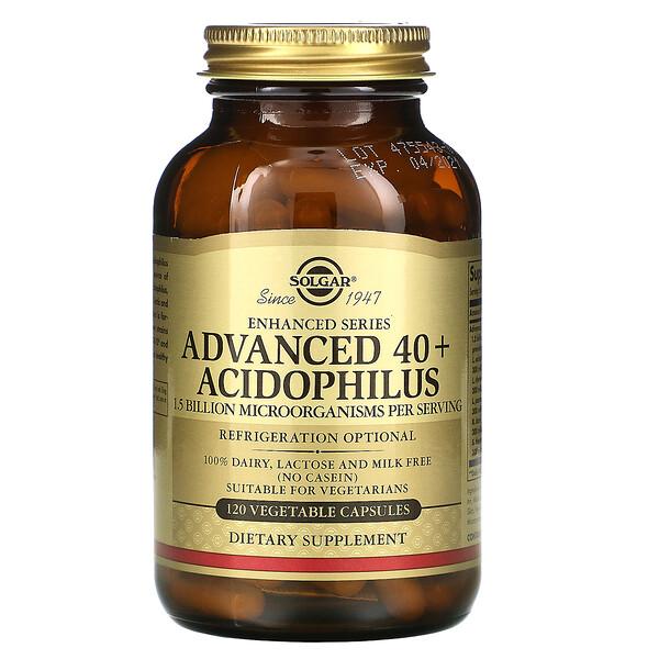 Advanced 40+ Acidophilus, 120 Vegetable Capsules