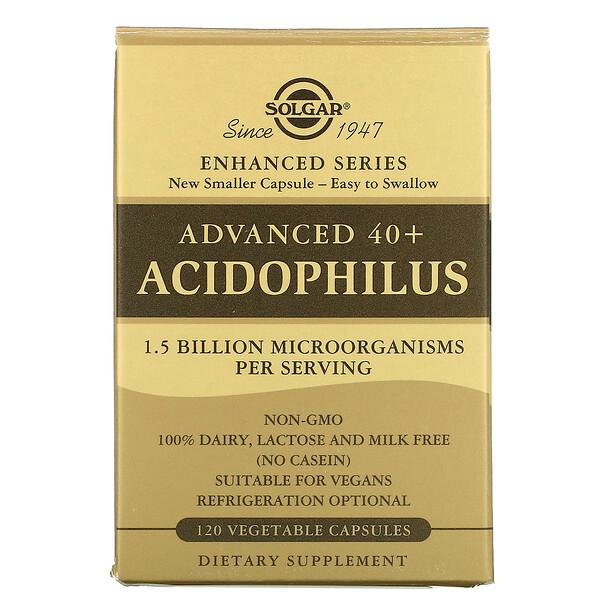 Solgar, Advanced 40+ Acidophilus, 120 Cápsulas Vegetarianas