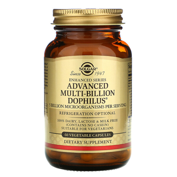 Advanced Multi-Billion Dophilus, 60 Vegetable Capsules