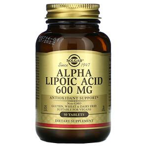 Солгар, Alpha Lipoic Acid, 600 mg, 50 Tablets отзывы покупателей