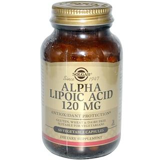 Solgar, アルファリポ酸、 120 mg、 60ベジキャップ