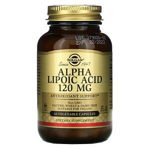 Солгар, Alpha Lipoic Acid, 120 mg, 60 Vegetable Capsules отзывы покупателей