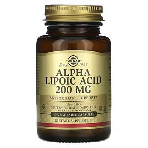 Солгар, Alpha Lipoic Acid, 200 mg, 50 Vegetable Capsules отзывы