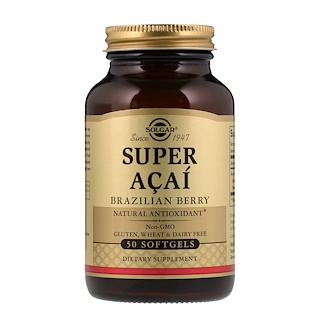 Solgar, Super Acai,巴西莓,50粒軟膠囊
