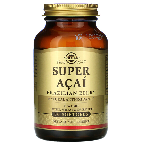 Super Acai, Brazilian Berry, 50 Softgels
