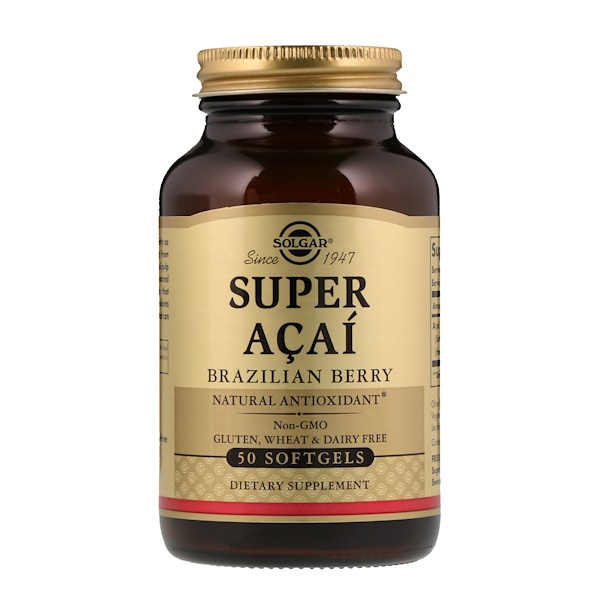 Super Acai, Brazilian Berry, 50 Softgels