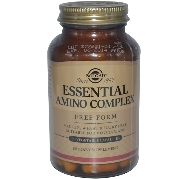 Solgar, Essential Amino Complex, 90 Vegetable Capsules