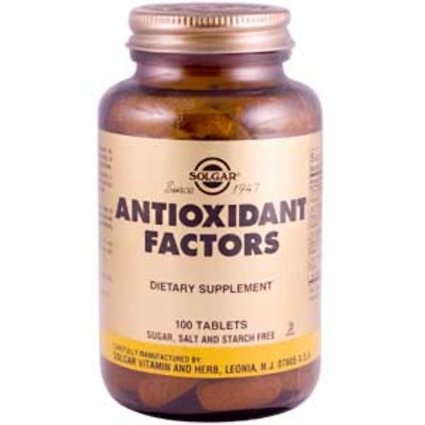Solgar, Antioxidant Factors, 100 Tablets (Discontinued Item)