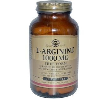Solgar, L-アルギニン、1000 mg、90タブレット