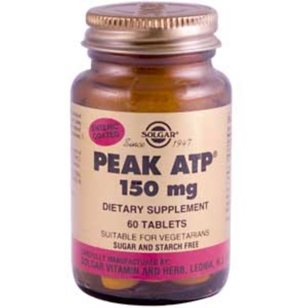 Solgar, PEAK ATP, 150 mg, 60 Tablets (Discontinued Item)