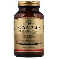 BCAA Plus, в свободной форме, 100 растительных капсул - фото