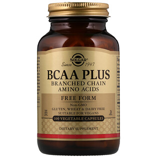 Solgar, BCAA Plus, Free Form, 100 Vegetable Capsules