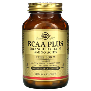 Солгар, BCAA Plus, Free Form, 100 Vegetable Capsules отзывы покупателей
