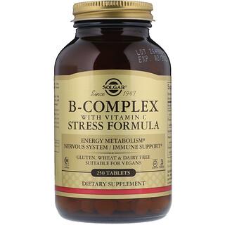 Solgar, Complejo B con Vitamina C, Fórmula para el estrés, 250 comprimidos