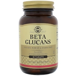 Solgar, Beta Glucanos, 60 Tabletas