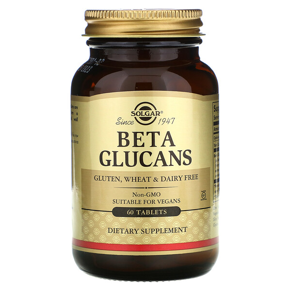 Solgar, Beta Glucans, 60 Tablets
