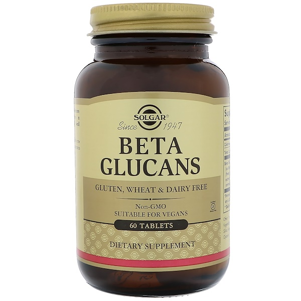 Solgar, Beta Glucans, 60 Tablets