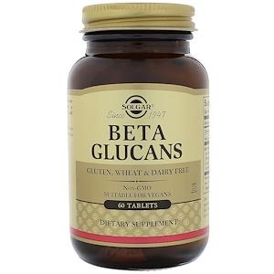 Solgar, Бета глюканы, 60 таблеток