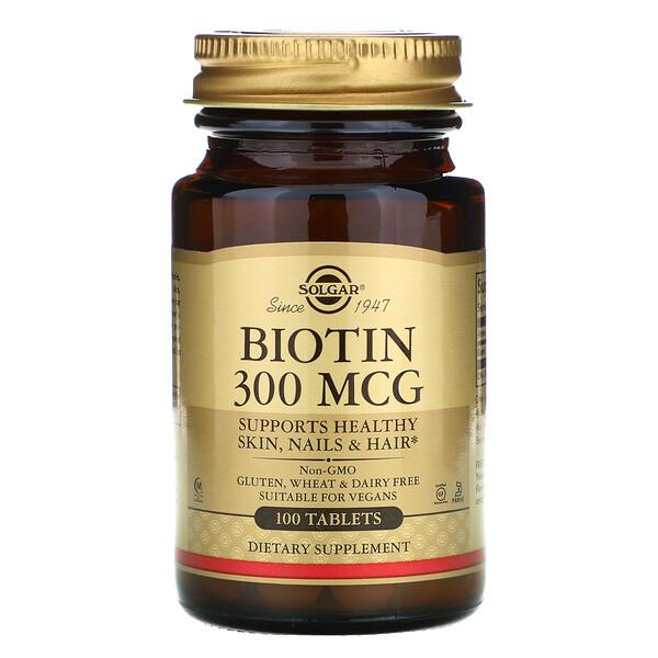 Biotin, 300 mcg, 100 Tablets