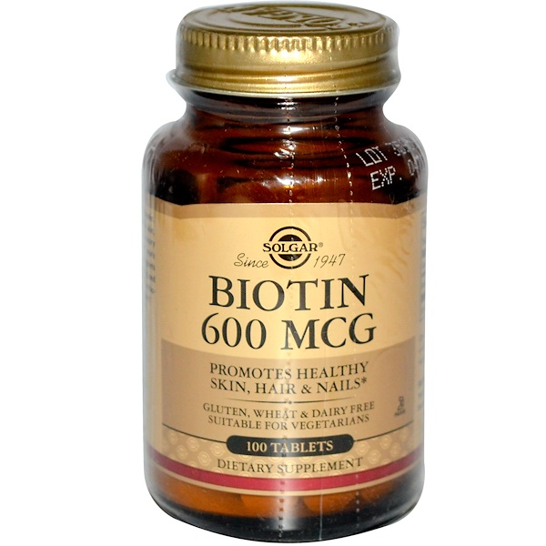 Solgar, Biotin, 600 mcg, 100 Tablets (Discontinued Item)