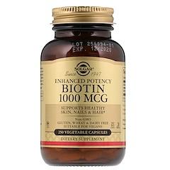 Solgar, Biotin, 1,000 mcg, 250 Vegetable Capsules