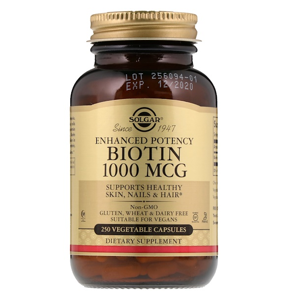 Solgar, Biotin, 1,000 mcg, 250 Vegetable Capsules