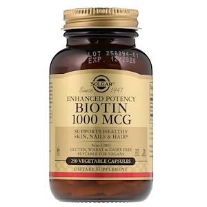Солгар, Biotin, 1,000 mcg, 250 Vegetable Capsules отзывы покупателей