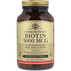 Solgar, مستحضر فيتامين البيوتين، 5000 مكجم، 100 كبسولة نباتية