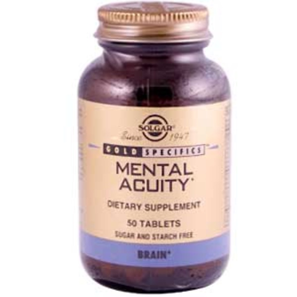 Solgar, Gold Specifics, Mental Acuity, 50 Tablets (Discontinued Item)