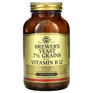 Solgar, 啤酒酵母,7.5 Grains with Vitamin B12,250 片