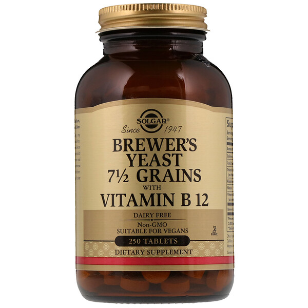 Brewer's Yeast, 7 1/2 Grains with Vitamin B12, 250 Tablets