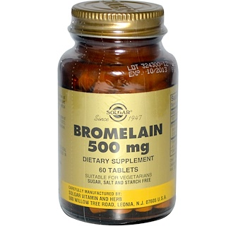 Solgar, Bromelain, 500 mg, 60 Tablets
