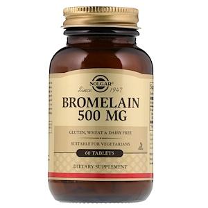 Солгар, Bromelain, 500 mg, 60 Tablets отзывы