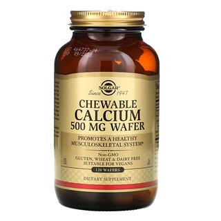 Solgar, Chewable Calcium, 500 mg, 120 Wafers