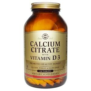 Solgar, Цитрат кальция с витамином D3, 240 таблеток инструкция, применение, состав, противопоказания