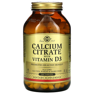 Солгар, Calcium Citrate with Vitamin D3, 240 Tablets отзывы