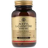 Отзывы о Solgar, Ацетил L-карнитин, 1000 мг, 30 таблеток