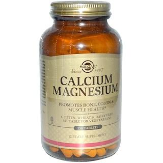 Solgar, カルシウム・マグネシウム、250タブレット