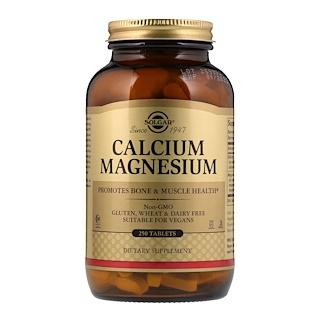 Solgar, الكالسيوم والماغنيسيوم، 250 قرص