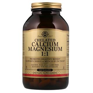 Solgar, Chelated Calcium Magnesium 1:1, 240 Tablets