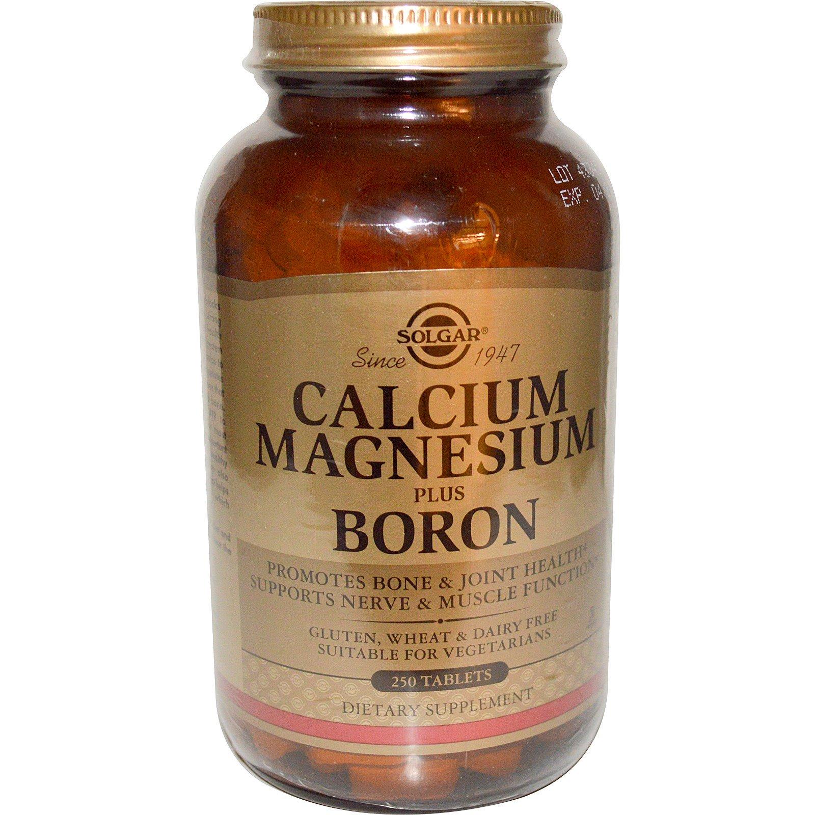 Solgar, Calcium Magnesium Boron, 250 Tablets