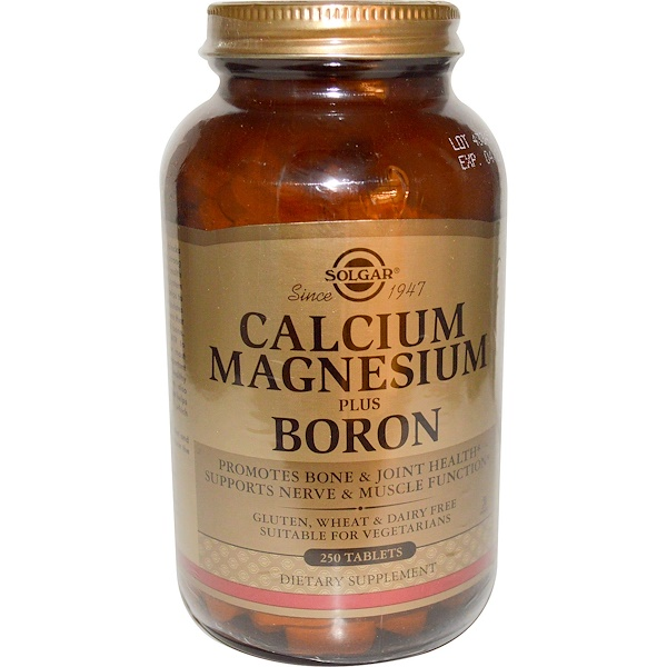 Solgar, Calcium Magnesium Plus Boron, 250 Tablets
